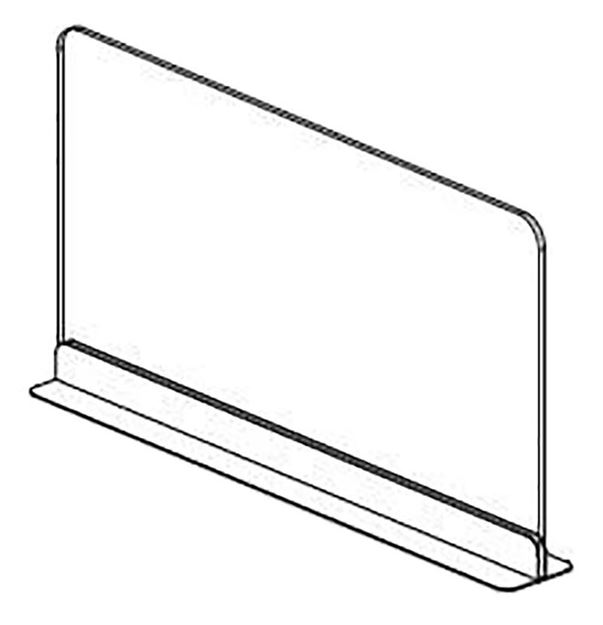 Picture of Vertical COVID Sneeze Guard