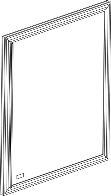 Picture of DOOR RR INS MIRRORED