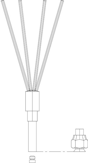 Picture of Distributor,3-circuit, 1/4 ton