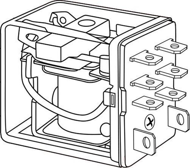 Picture of DPDT Relay 220vac Coil