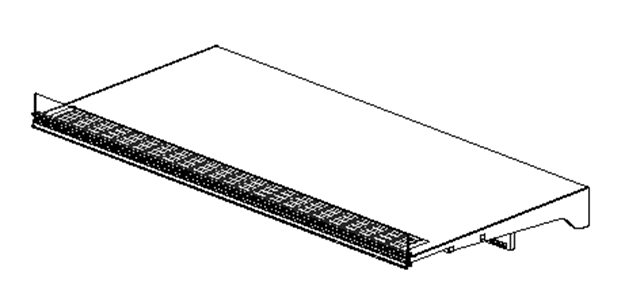 """Picture of 22""""x48"""" Shelf with Slotted PTM"""